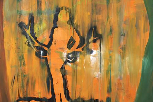 Halkürbis, 2013, 150 x 145 cm