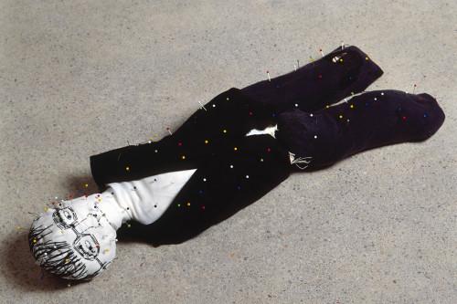 Nähkissen Klaus, 1998, 40x15x10cm