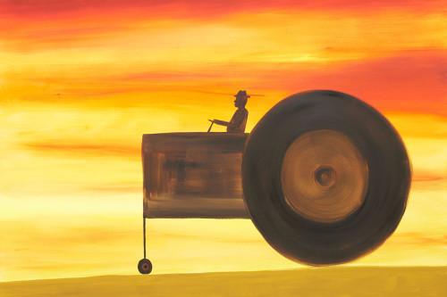 O.T. (Traktor, Abendrot)