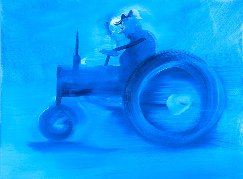 O.T. (Traktor, phtaloblau)
