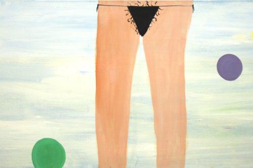 Bikinimaedchen mit Punkten